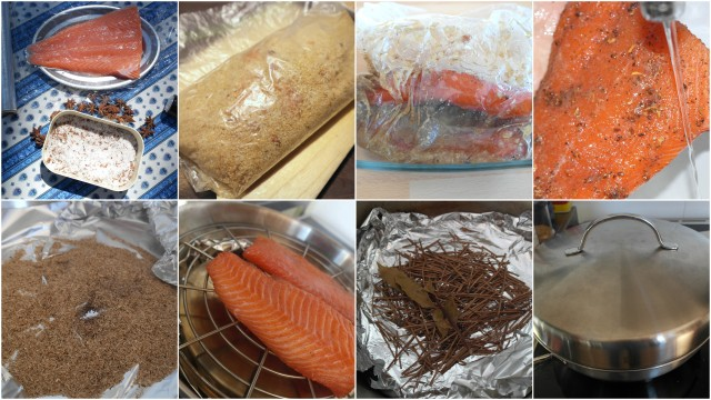 saumon gravlax fumé